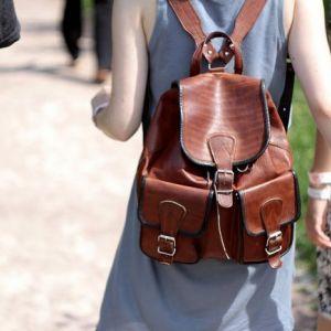 Модні шкіряні рюкзаки