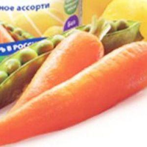 Овочеве пюре для першого прикорму